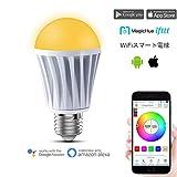 Magic Hue WiFi スマートLED 7.5W RGBW電球 ワイヤレス タイミングスマート LED照明電球 操作調光 調色モードライト WiFi操作 スマホン 非常灯 スマートフォンコントロール 用の新しいマジックホーム E26(新調光調色7.5W暖かい白 色&冷かい白 色)