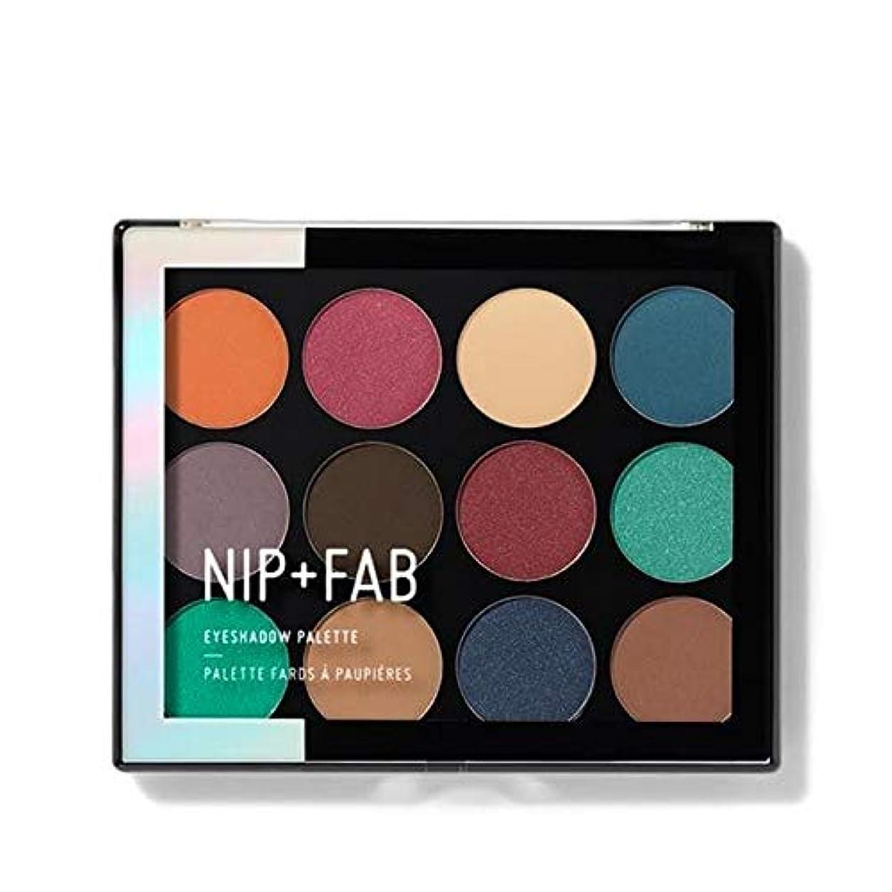 力有毒な息切れ[Nip & Fab ] アイシャドウパレット12グラムが3宝石作るFab +ニップ - NIP+FAB Make Up Eyeshadow Palette 12g Jewelled 3 [並行輸入品]