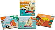 Mizzie Puzzle Box Set, 3 Puzzles in 1, Baby Puzzles, Toddler Puzzles, Hopping Around Australia, Australian Lan