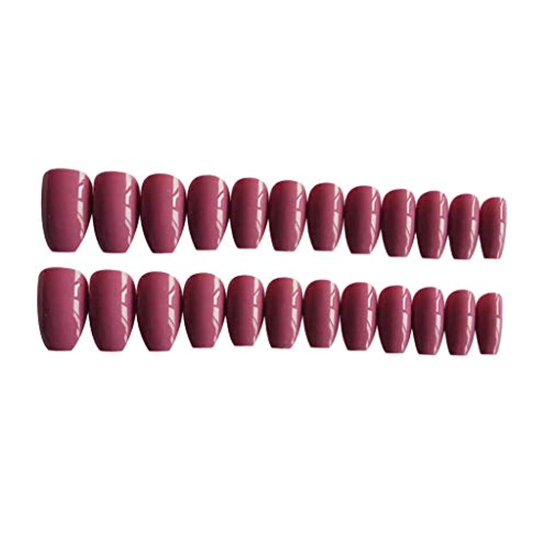 宇宙のアッパー裂け目ネイルチップ ロング フルカバープレス フルチップ グラデーション 全7種選択でき - ピンク