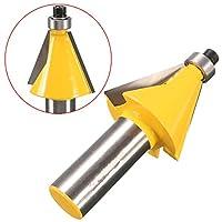 DADANGSH 1/2インチのシャンク22.5度の面取りとベベルエッジングルータービット木工ツール DIYツール