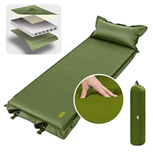 Zenphエアーマット キャンプマット テントマット エアーベッド 自動膨張 枕付き 厚さ5cm 旅行 アウトドア 防災用品 防水耐湿 連結可能 収納袋付き