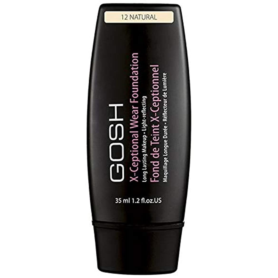 [GOSH ] おやっX-Ceptionalナチュラル12を構成して着用 - Gosh X-Ceptional Wear Make Up Natural 12 [並行輸入品]