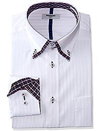 [アトリエサンロクゴ]長袖 ワイシャツ デザインシャツ 白系ドビー織 Yシャツ メンズ sun-ml-sbu-1109 メンズ