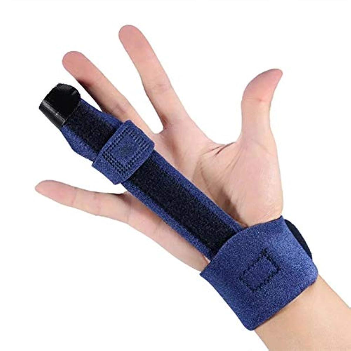 一回ナイロンニコチンスプリント指、指拡張スプリント、ばね指、マレット指のため、可鍛性金属ハンドスプリントフィンガーサポート(調節可能なマジックテープ)