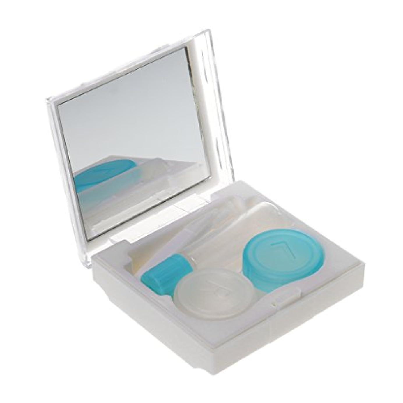 柔らかさラグ鏡chiwanji コンタクトケース コンタクトレンズケース 収納 持ち運びやすい