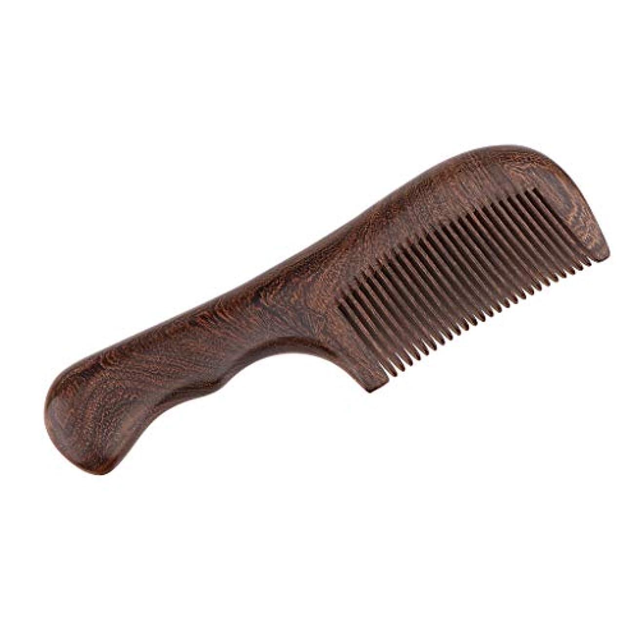 狂った知る同化する帯電防止櫛 ウッドコーム ヘアサロン 自宅用 2仕様選べ - 細かい歯