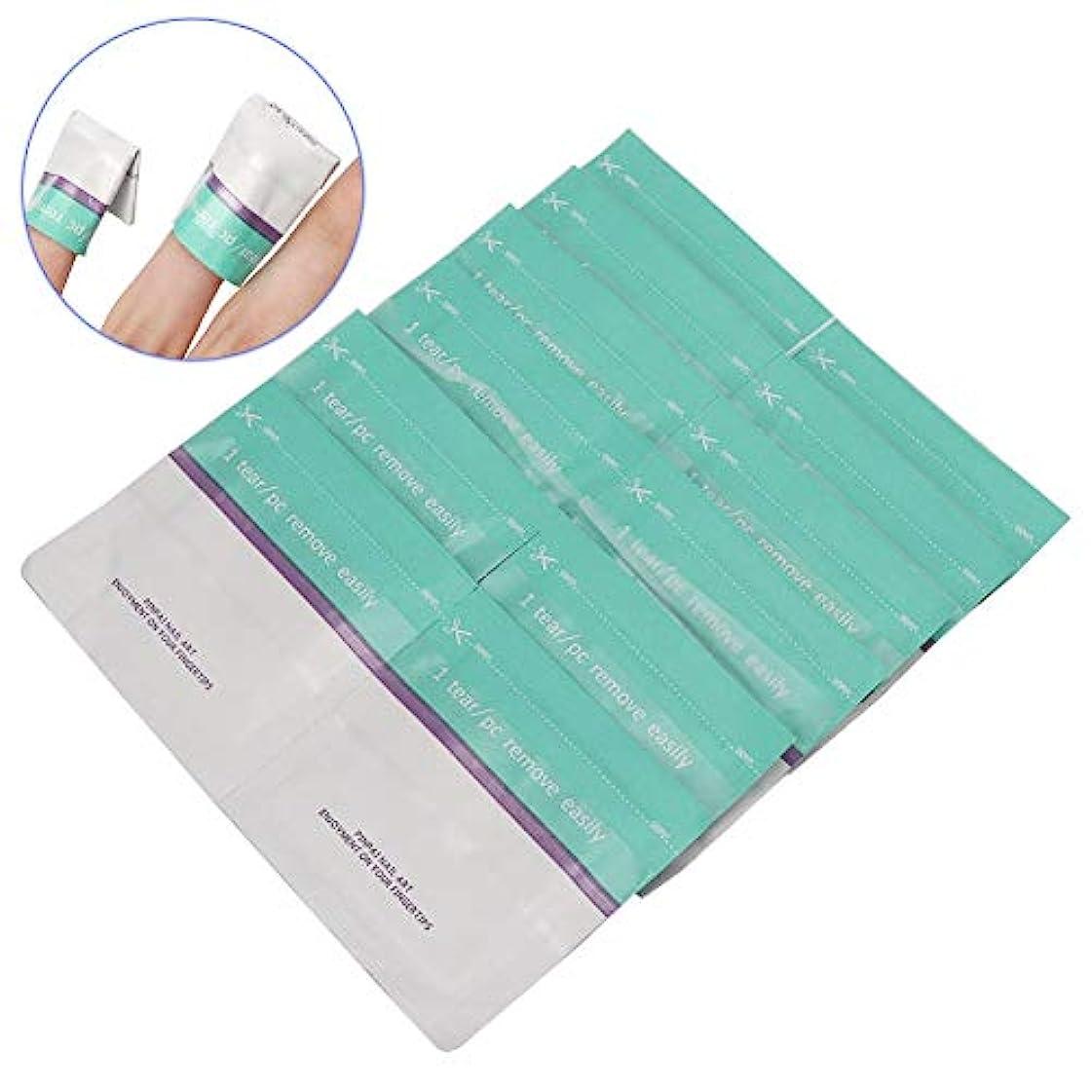 キロメートルブリーク人気のYuyte 200ピース使い捨てネイルポリッシュリムーバー錫箔ラップuvジェルリムーバーコットンパッドマニキュアツール