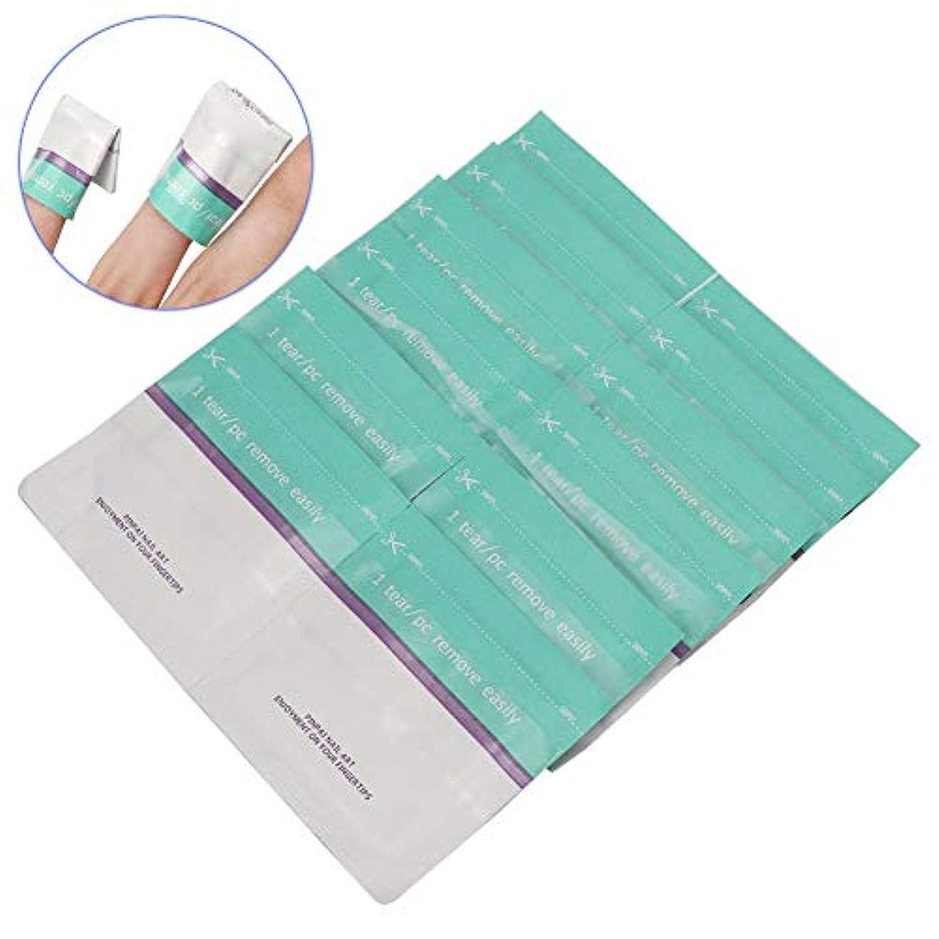 マニュアル通行料金簡単にYuyte 200ピース使い捨てネイルポリッシュリムーバー錫箔ラップuvジェルリムーバーコットンパッドマニキュアツール