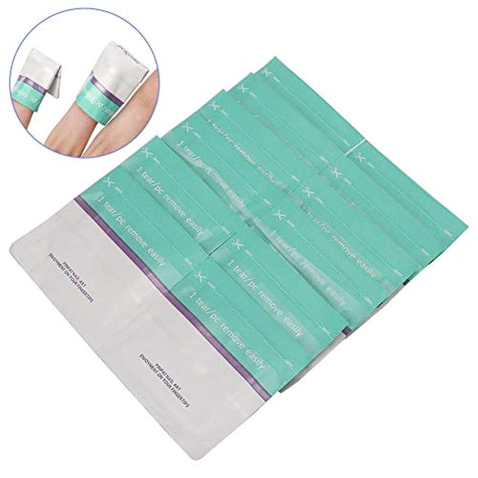 クリック消費国旗Yuyte 200ピース使い捨てネイルポリッシュリムーバー錫箔ラップuvジェルリムーバーコットンパッドマニキュアツール