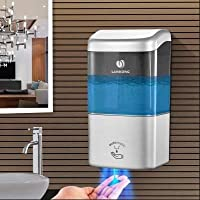 壁に取り付けられたソープディスペンサー 自動石鹸ディスペンサー Abs 樹脂 非接触 読み込むことができます。 バスルーム キッチン ホテル 500 ml-E