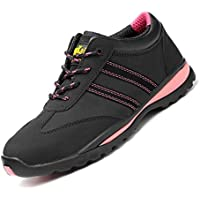Women Safety Trainers, Puncture-Proof Steel Toe Cap Breathable Lightweight Work Shoes Non Slip Footwear