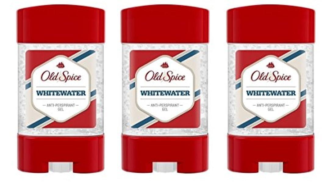 しっかり学期ダブル(Pack of 3) Old Spice Whitewater Antiperspirant Deodorant Gel Stick for Men 3x50ml - (3パック) オールドスパイスホワイトウォーター制汗剤...
