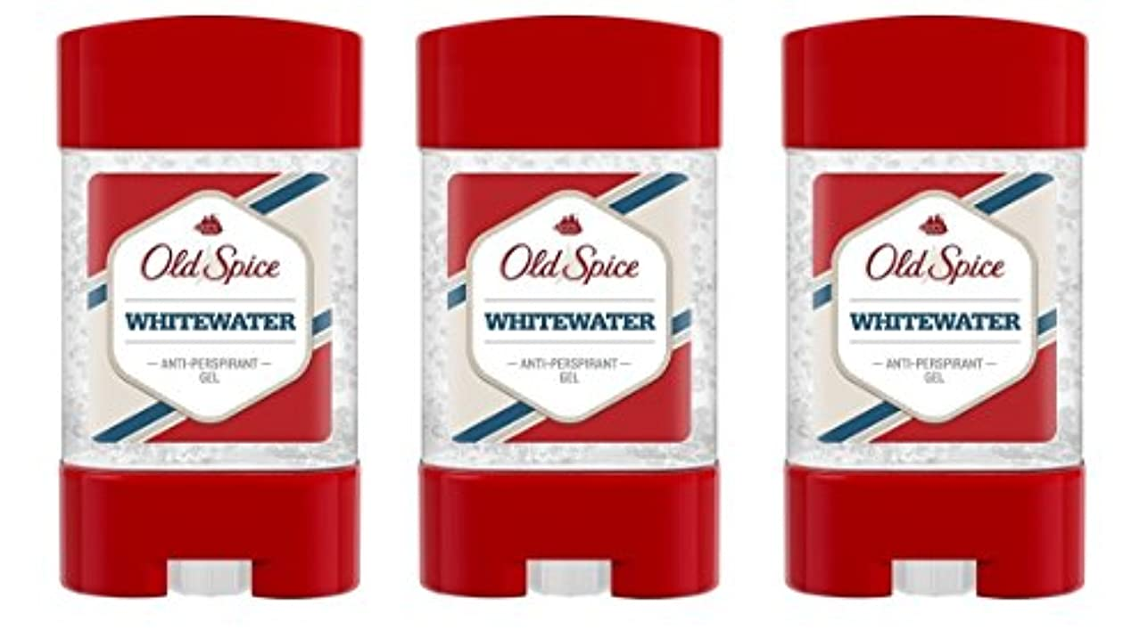 マット滅びる間違いなく(Pack of 3) Old Spice Whitewater Antiperspirant Deodorant Gel Stick for Men 3x50ml - (3パック) オールドスパイスホワイトウォーター制汗剤...