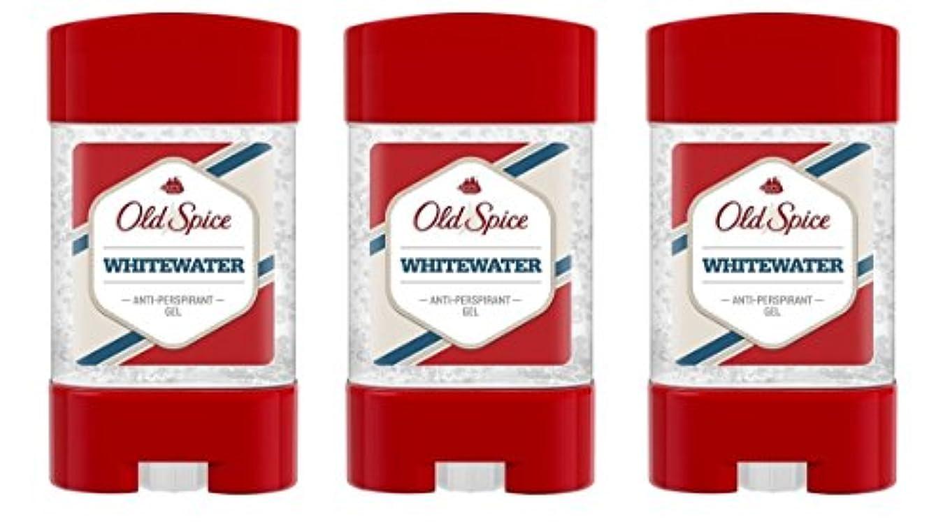 グレートバリアリーフ窓不均一(Pack of 3) Old Spice Whitewater Antiperspirant Deodorant Gel Stick for Men 3x50ml - (3パック) オールドスパイスホワイトウォーター制汗剤...