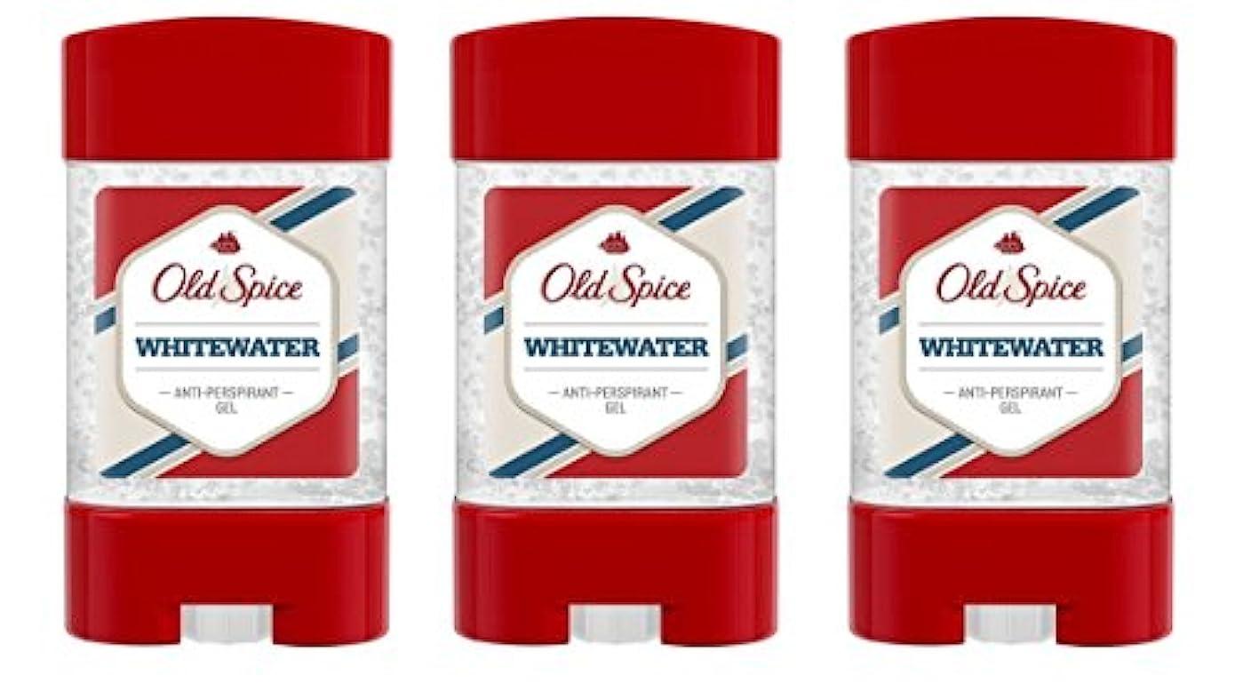 意図的ありがたい減る(Pack of 3) Old Spice Whitewater Antiperspirant Deodorant Gel Stick for Men 3x50ml - (3パック) オールドスパイスホワイトウォーター制汗剤...