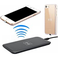 Wireless Charger Kit for iPhone 7 hanende [Sleep-Friendly] Qi Wireless Charging Pad and Wireless Receiver Case for iPhone 7 (Gold) [並行輸入品]