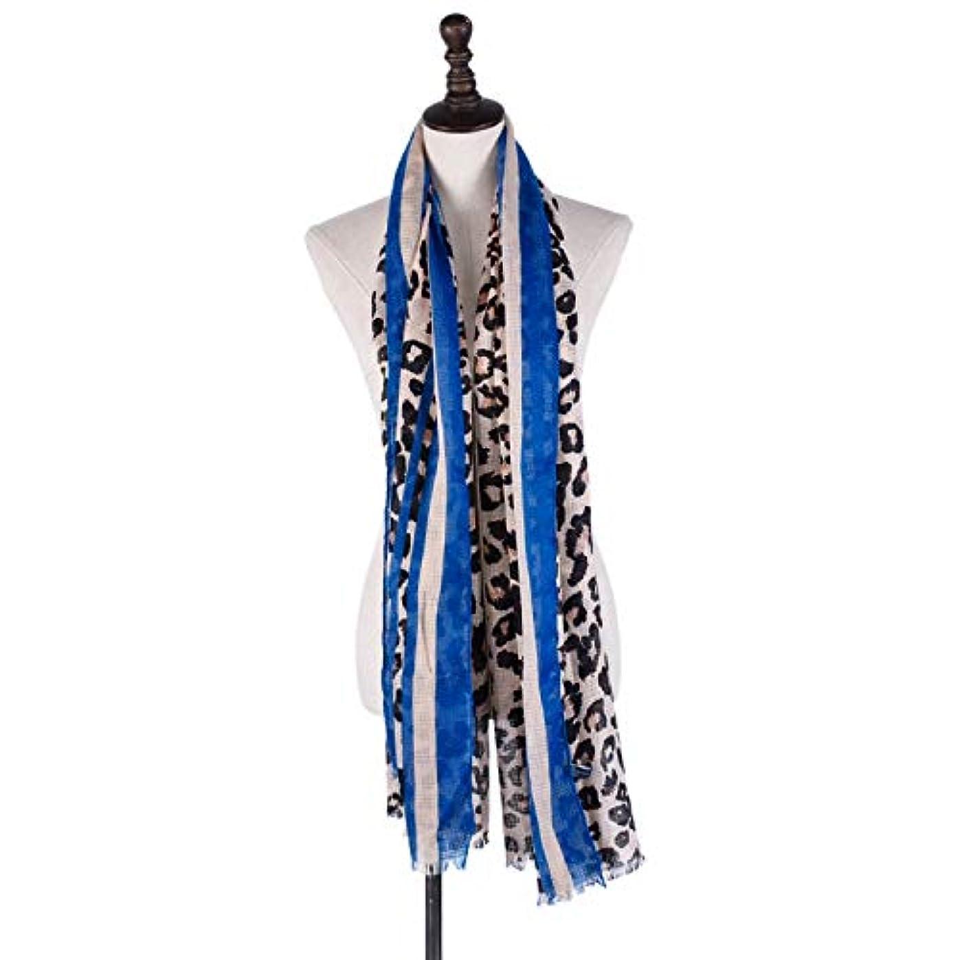 抵当ポーズ追放スカーフ 綿とリネン 民族風 レトロ 女性向け ヒョウプリント ショール 四季通用 多機能 防寒 冷房対策 日焼け止め