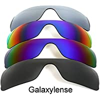 Galaxylense Men's 4 Pairs Replacement Lenses For Oakley Batwolf Polarized S