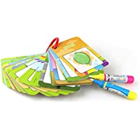 e-scenery 26pcs Water Painting Graffiti Bookカードwith 2 Magic DrawingペンChidrenの早期教育認識機能カードColouring Doodleボードおもちゃfor Toddlers Kids Baby – 番号、図形と色