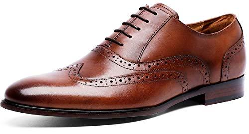 (デザート)Dessert ビジネスシューズ 紳士靴 内羽根 ストレートチップ 革靴 ウイングチップ 本革 ブラウン 24CM 8113