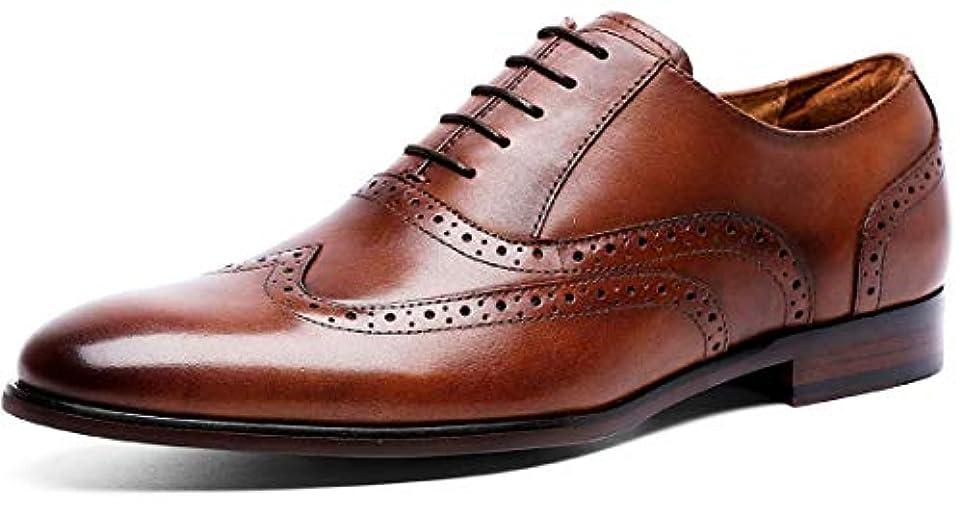 抑圧者価値のないバナナ(フォクスセンス) Foxsense ビジネスシューズ 紳士靴 内羽根 ストレートチップ 革靴 ウイングチップ 本革