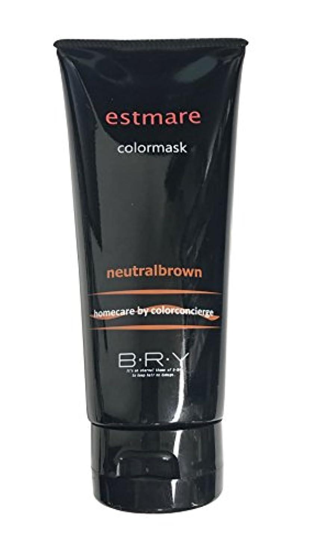 老人真実に認証BRY(ブライ) エストマーレ カラーマスク Neutralbrown ニュートラルブラウン 200g