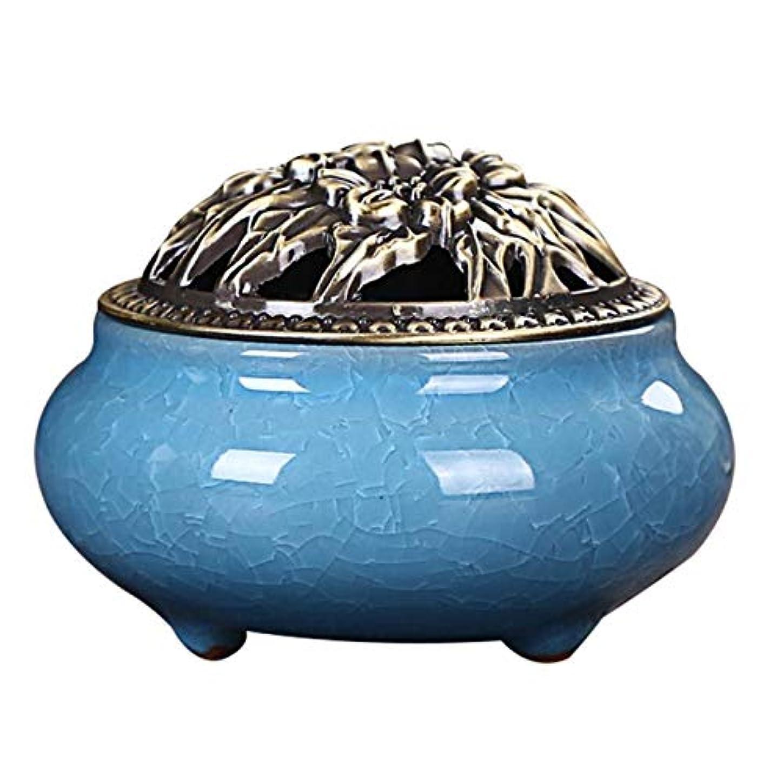 トロリーバス芝生政令Zhaozhe陶磁器 香炉 香皿 セラミック 渦巻き線香 アロマ などに