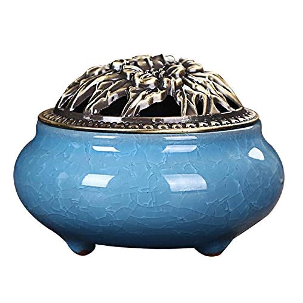 Zhaozhe陶磁器 香炉 香皿 セラミック 渦巻き線香 アロマ などに