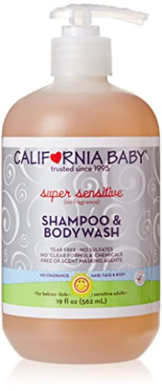 マーケティング印刷する計算するCalifornia Baby カリフォルニアベビー Shampoo & Bodywash シャンプー & ボデー ウォッシ - Super Sensitive とても敏感 - 無香 - 19.0 oz. (561 ml...