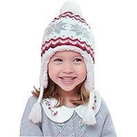 Home Prefer Kids Baby Toddler Girls Winter Hat Warm Knit Beanie Earflap Hat