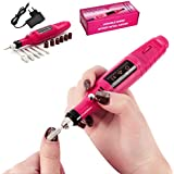 Frenshion Pink Electric Nail Drill Manicure Filer Kit Nail Polish Machine 6 Acrylic Gel Remover Pedicure Nail Care Tools
