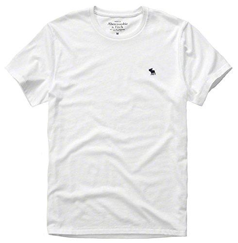 (アバクロ)【難あり商品】正規品 メンズ 半袖 Tシャツ 無地 124-allb-b アバクロンビー&フィッチ[S(難あり)×009white(Uネック)] [並行輸入品]