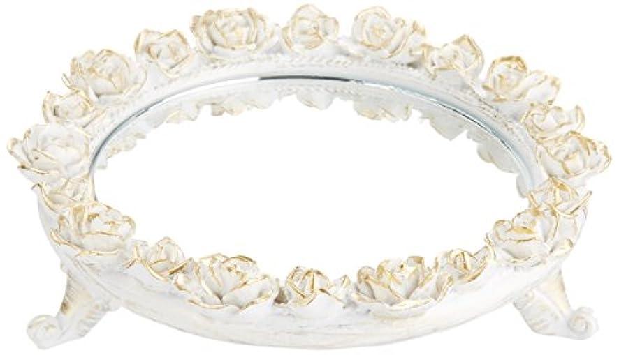 ビート印をつけるスチュワーデス茶谷産業 White Rose Collection ミラートレー 350-803