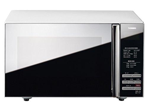 ツインバード ミラーガラスフラット電子レンジ 20L ホワイト DR-D269W
