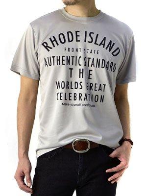 (フラグオンクルー) FLAG ON CREW 吸汗速乾 Tシャツ メンズ アメカジ ドライTシャツ / D2L / L C柄ライトグレー
