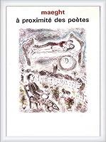 ポスター マルク シャガール A Proximite Des Poetes 1986 額装品 ウッドハイグレードフレーム(ホワイト)