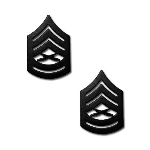 アメリカ海兵隊 下士官 階級章 - 1等軍曹 戦闘服用 米軍 ミリタリーバッジ 2個セット