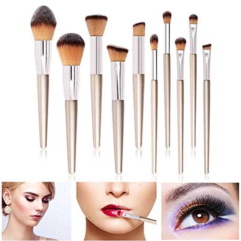 定数タイムリーな銛Symboat 10本化粧ブラシソフトアイシャドウファンデーションブラッシュポータブル美容ツール用女性