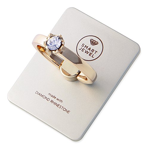 RoomClip商品情報 - SMART JEWEL 誕生石 指輪 スマホリング ダイヤモンド ラインストーン ブランド 薄型 宝石 便利 スマホ リング おしゃれ かわいい 指輪型 指輪風 ホールドリング c001 17SJ8-1-SGDCRYz