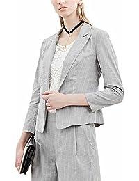 2点セットレディース スーツストライプ ジャケット パンツ ビジネス 通勤 スーツ大きいサイズ