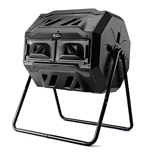 PlantCraft 160L Dual Barrel Rotating Compost Tumbler Bin