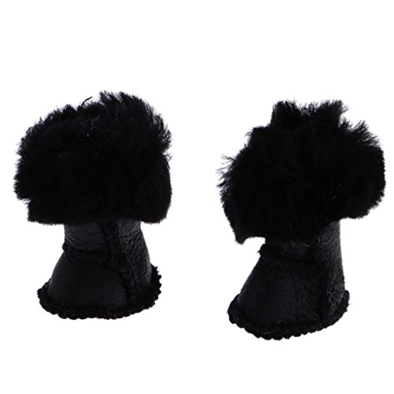 Lovoski  魅力的 豪華な ぬいぐるみ 雪 靴 ブーツ  12 インチ ブライスドール用   衣類 アクセサリー 3色選べる  - ブラック