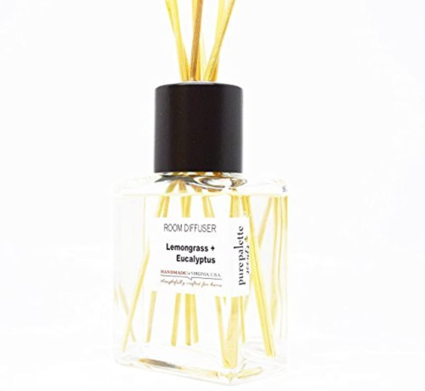 付ける誠意けがをするLemongrass Eucalyptus Room Diffuser Set Handmade in Virginia U.S.A [並行輸入品]