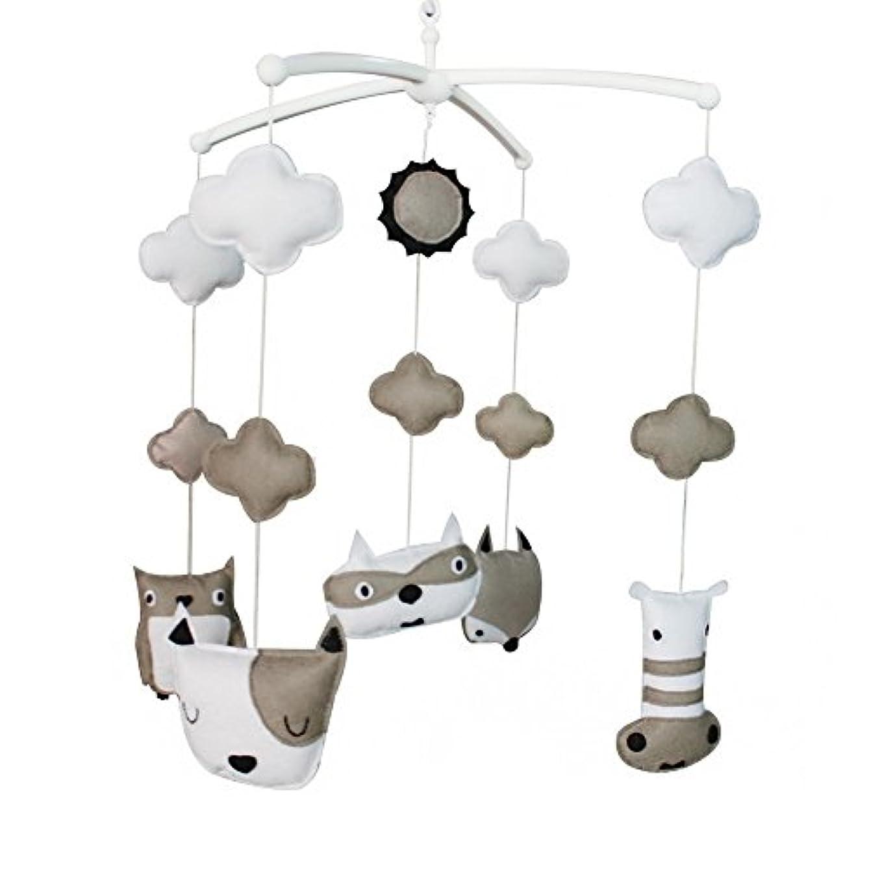 最適見捨てる合金[ラブリー動物]ベビーベッドのベル、手作りのギフト、カラフルな赤ちゃんのおもちゃ