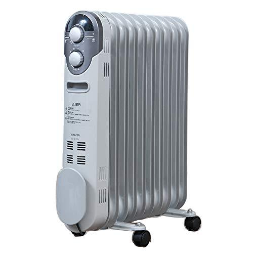 山善 オイルヒーター(1200/700/500W 3段階切替式)(温度調節機能付)(24時間入切タイマー付) ホワイト DO-TL1...
