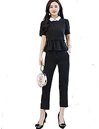 MIKOO 結婚式 ドレス パンツドレス セットアップ 袖あり パーティードレス パンツ パンツスーツ フォーマル 大きいサイズ お呼ばれ 通勤 レディース スーツ