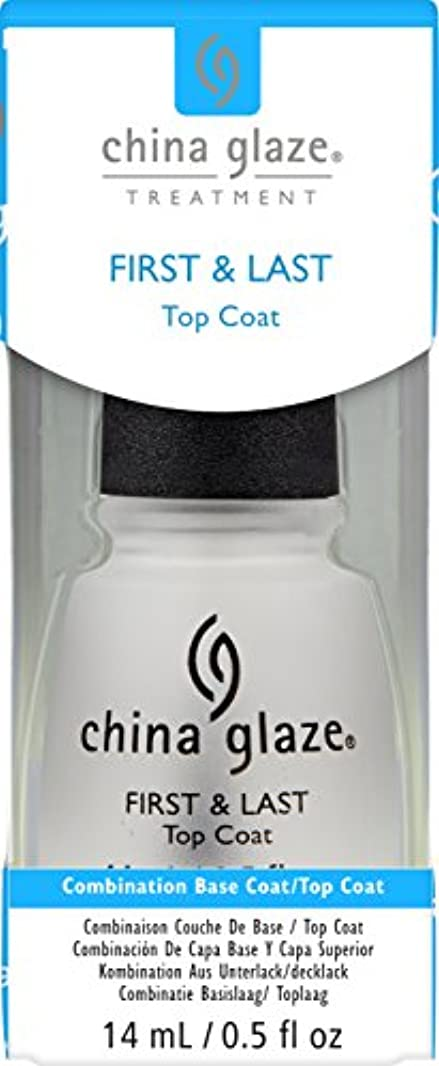 地上で抱擁粗いChina Glaze First & Last Base Coat/Top Coat 14 ml (並行輸入品)
