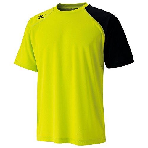 (ミズノ)MIZUNO テニスウェア Tシャツ [UNISEX] 62JA6070 37 ライムグリーン L