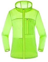 Keaac 男性の屋外の紫外線対策クイック乾燥薄肌のフード付きのジャケットウインドブレーカー